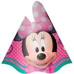 Chapéu de Aniversário Minnie Rosa com 8 Unidades - Regina Festas
