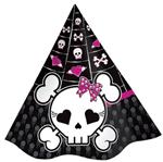 Chapéu de Aniversário Punk Princess - 08 Unidades