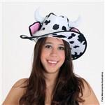 Chapéu de Cowboy Estampado Vaca com Orelhas U