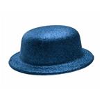 Chapéu Plástico Coquinho com Glitter Azul - Unidade