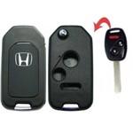 Chave Canivete Honda New CIVIC / CITY / CRV - 2 Botões + Panico Adaptação