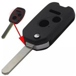 Chave Canivete Honda New Civic City Crv Fit 2 Botões + Panico