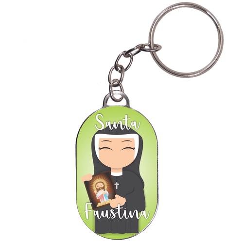 Chaveiro Chapinha Infantil Santa Faustina | SJO Artigos Religiosos