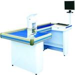 Check-out Caixa Supermercado Standard Azul Fundiferro 180cm Gaveta + Suporte Leitor (direito)