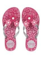 Chinelo Barbie Infantil para Menina - Rosa/prata