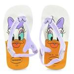 Chinelo Havaianas Baby Disney Classics Branco Lilás - 4126841