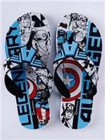 Chinelo Ipanema Avengers Infantil para Menino - Branco/preto/azul