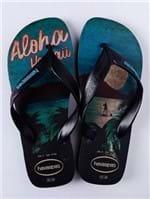 Chinelo Masculino Havaianas Surf Preto/azul