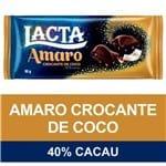 Chocolate Lacta Amaro Crocante de Coco 90g