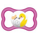 Chupeta Air Silk Touch Girls - Acima de 6 Meses- Rosa Patinho - MAM