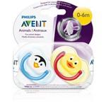 2 Chupeta Desenho Animal Freeflow 0-6m BPA Free Philips Avent