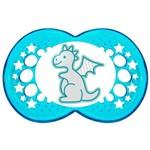 Chupeta Mam Clear Dragão Azul Tamanho 2 6m+ - 2333