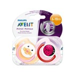 Chupeta Philips Avent Animal Classic Pacifier 6-18 Months (2 Pack)