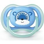 Chupeta Ultra Air Azul Urso 6-18 Meses Philips Avent