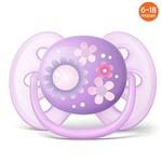 Chupeta Ultra Soft 6 à 18 Meses Flores - Philips Avent