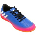 Chuteira Infantil Futsal Adidas Messi 16.4 TF BB5657 Azul/Rosa 30