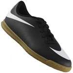 Chuteira Nike Jr Just do It Futsal Bravatax Ii Ic Preto / Branco
