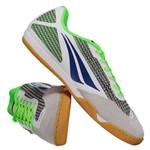 Chuteira Penalty Max 500 VII Futsal Branca e Preta