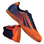 Chuteira Penalty Storm Speed VII Futsal Juvenil Laranja Fluorescente