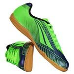 Chuteira Penalty Storm Speed VII Futsal Juvenil Verde e Azul