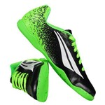 Chuteira Penalty Victoria VII Futsal Juvenil Preta e Verde
