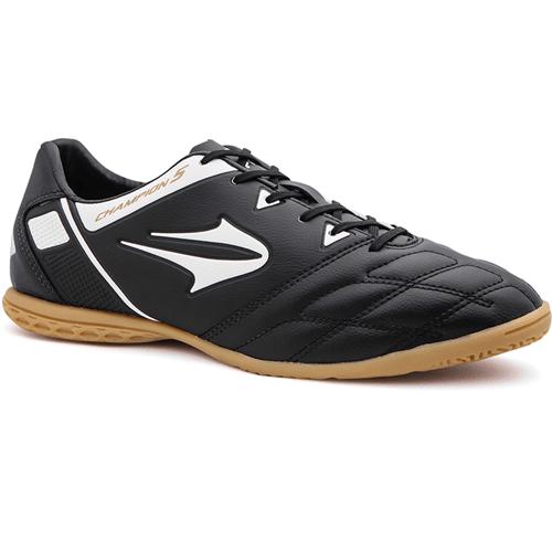 Chuteira Topper Champion V Futsal Preto/Branco - 38