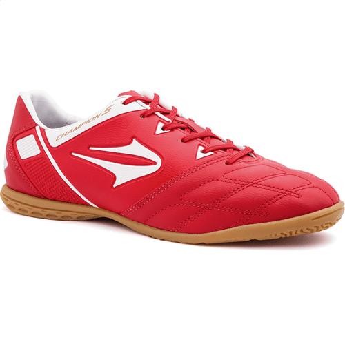 Chuteira Topper Champion V Futsal Vermelho/Branco - 41