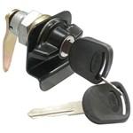 Cilindro com Chave e Puxador Externo Porta Lateral Giro Lado Direito Preta - Un60582 Ônibus /adaptações