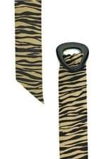 Cinto Babadotop Faixa de Couro Animal Print Tigre - Bege