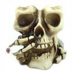 Cinzeiro Crânio Caveira Fumando Cigarro