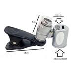 Clipe Universal para Celular Microscópio com Led Lupa 60x