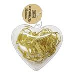 Clips Coração Dourado com 20 Unidades Tilibra
