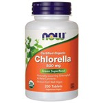 Clorela Importada Orgânica 500mg 200 Cap Chlorella Now Foods
