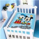 Cobertor Antialergico Bebe Menino Jolitex Mickey Disney Azul