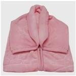 Cobertor Baby Sac Touch Texture Rosa - Jolitex Ternille