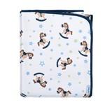 Cobertor Bebê Antialérgico 100% Algodão Flanelado 90x110cm Cavalinho Menino