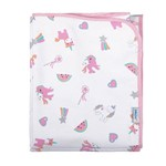 Cobertor Bebê Antialérgico 100% Algodão Flanelado 90x110cm Unicórnio