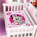 Cobertor Berço Jolitex Infantil Disney Minnie Ursinho