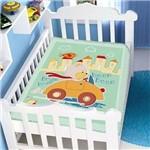 Cobertor Berco Jolitex Raschel 90x110 Passeio Divertido Azul