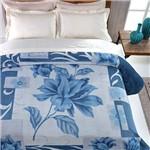 Cobertor Casal Raschel Max Flower Malbec - Casa e Conforto