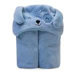 Cobertor com Capuz para Bebê Microfibra Azul