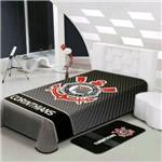 Cobertor Corinthians Jolitex Realce Casal Oficial