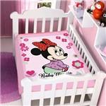 Cobertor de Microfibra Bebe Minnie Menina Rosa Licenciado