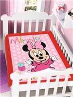 Cobertor Disney Jolitex Infantil para Bebê - Rosa/preto