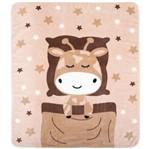 Cobertor Fleece Microfibra 90 Cm X 1,10 M Girafa Bege