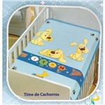 Cobertor Infantil Jolitex Time de Cachorros