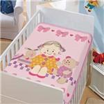 Cobertor Jolitex Infantil Berço Bebê Tradicional Doce Amigas