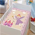 Cobertor Jolitex Infantil Berço Bebê Tradicional Fadinha Feliz