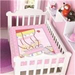 Cobertor Jolitex Infantil Berço Bebê Ursinhos no Balão Rosa