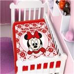 Cobertor Menina Jolitex Disney Baby Minnie Coração Vermelho